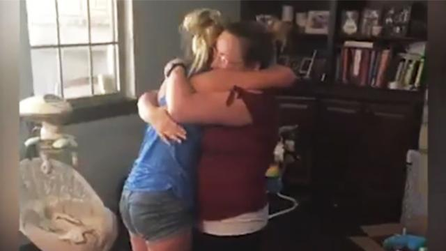Stepmom surprises girl by getting down on one knee and asking, 'Will you be my real daughter?'