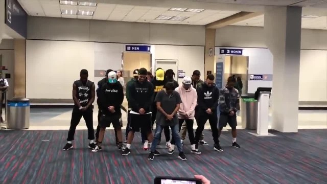 Dancers trapped at airport for 6 hours, only to bring house down with wild routine
