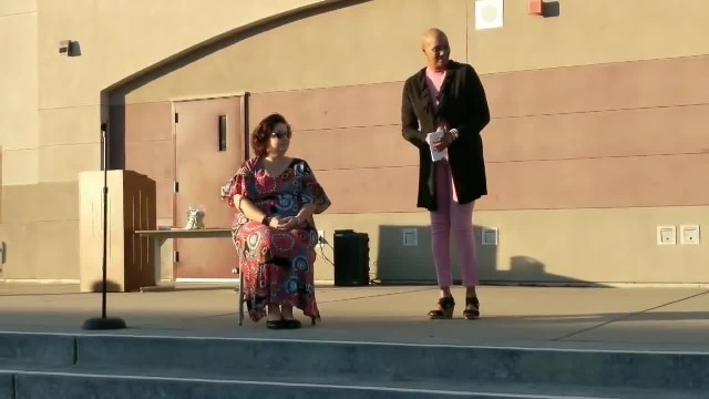 Students sing 'Lean On Me' to principal diagnosed with breast cancer and everyone is in tears