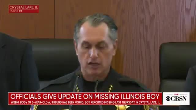 "Police confirm missing Illinois boy Andrew ""AJ"" Freund has been found dead and his parents are charg"