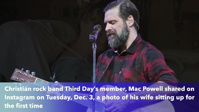Mac Powell's wife sits up for first time after brain aneurysm thanks to the power of prayers
