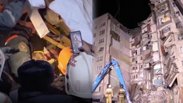 Baby boy is miraculously pulled from rubble 35 hours after apartment building collapses
