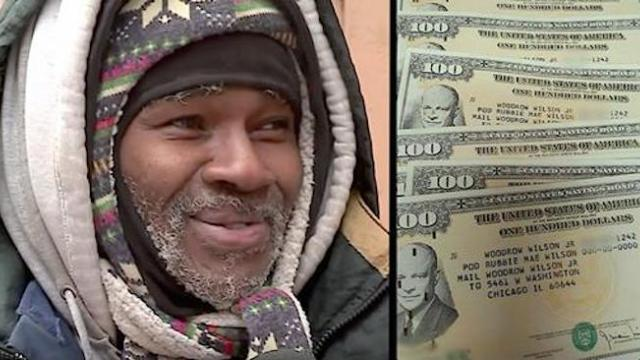 Homeless man sleeps in brutal cold when pawn shop finds his name