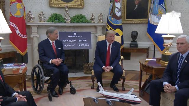 President Trump meets with the governor of Texas