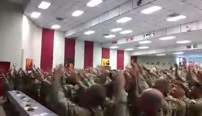 Marines Sing 'Days of Elijah' Together During Worship Service at Military Base