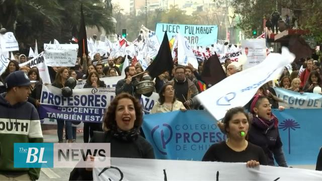 Chilean teachers march calling for better working conditions