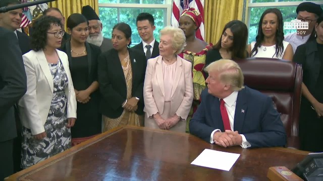 Falun Gong practitioner met President Trump at White House, revealing brutal persecution in China