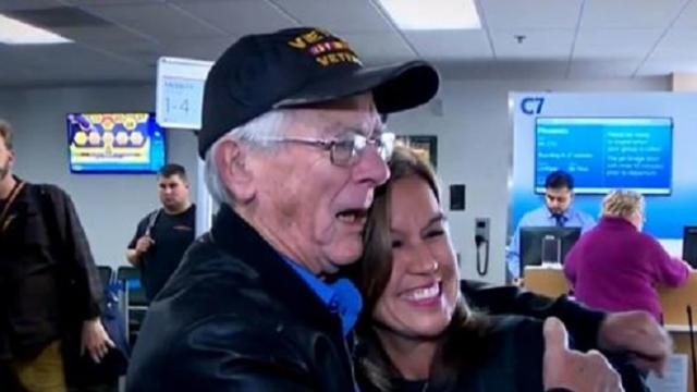 Veteran meets woman during war. 50 years later, he discovers she kept a huge secret from him