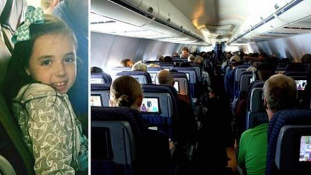 Nine-year-old girl suddenly has panic attack on flight. Mom spots flight attendant handing daughter