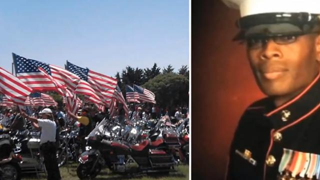 Patriotic bikers get involved after learning Marine's remains will be sent home in a FedEx box