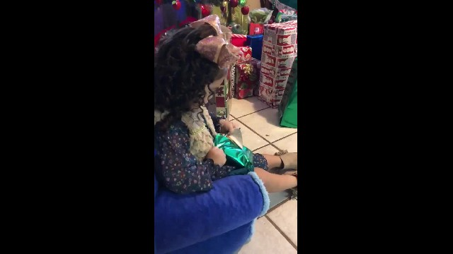Grateful Little Girl Receives A Gift Of Instant Noodle Soup