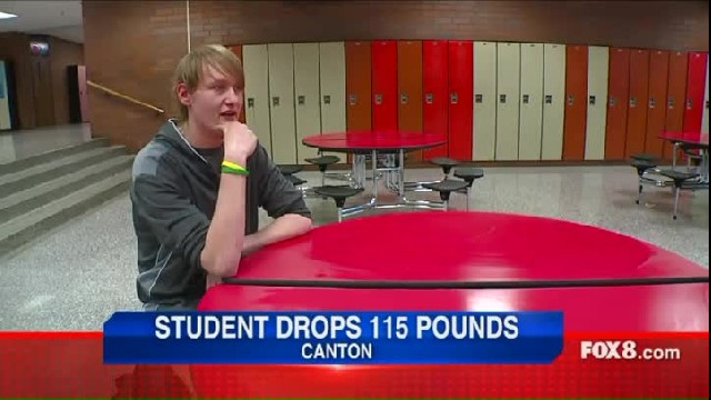 Teen loses more than 100 pounds walking to school every day, drastically changing his appearance