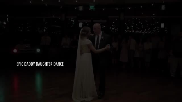 This daddy-daughter wedding dance has the crowd cheering in hysterics
