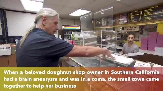 Doughnut beloved owner returns after community bought out store every day while she was in a coma