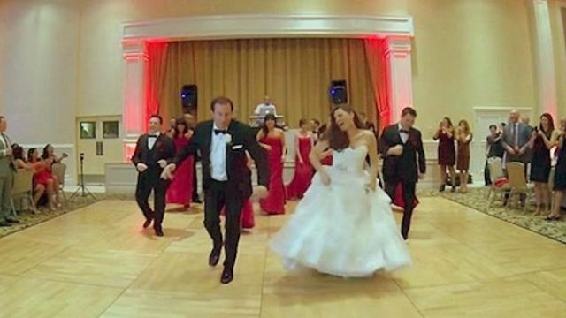 Everyone's jaw dropped when the bride and groom stormed the floor with this