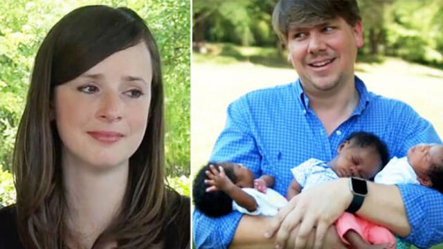 White mom is shamed for giving birth to 3 black babies—But her husband's reaction is absolutely beau