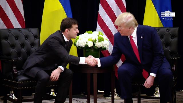 President Trump Participates in a Bilateral Meeting with the President of Ukraine