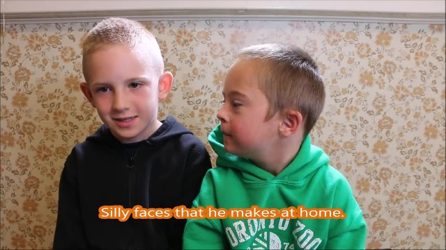 Boy With Down Syndrome Does Whatever His Brother Tells Him To. When He Says THIS? Adorable…