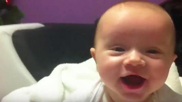 Mom left baby home with dad. When she returned, the baby's face looked completely different