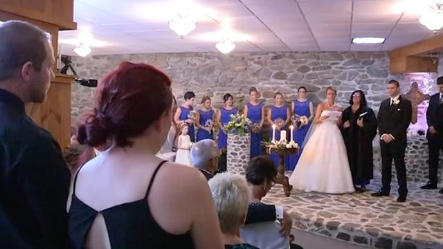 Bride sees her husband's ex at her wedding only to halt everything and tells her to stand