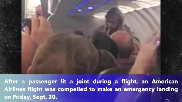 Plane forced into emergency landing after a man lights up joint mid-flight
