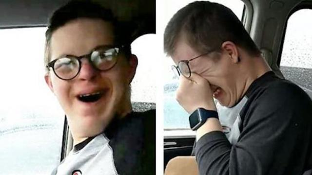 Boy with Down syndrome finds out mom is taking him to Disney & his reaction is priceless