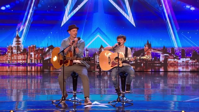 Crowd Weeping With Father And Son's Song Forcing Simon To Hit The 'Golden Buzzer'