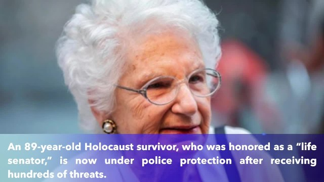 Holocaust survivor and senator for life, 89, gets police protection after receiving 200 threats each