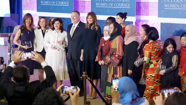 First Lady Melania Trump at the 2020 international women of courage awards