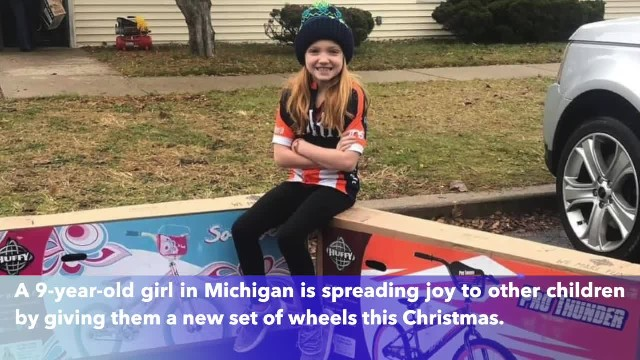 Michigan girl gives away 130 bicycles to charity for Christmas
