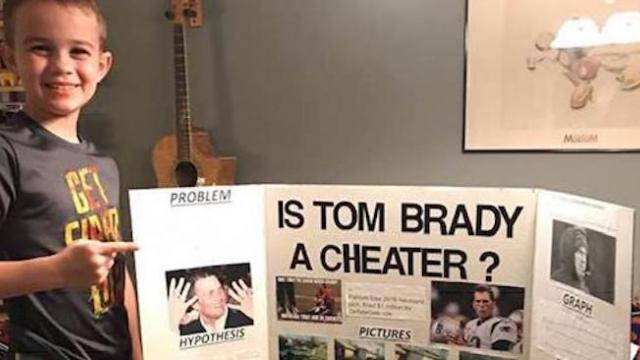 A 10-year-old kid won a science fair by proving Tom Brady is a cheater