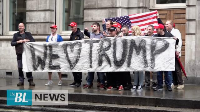 Trump finds welcome in UK