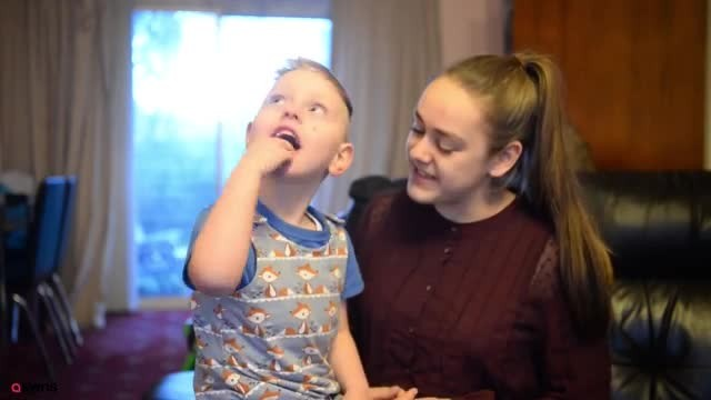 Teenager teaches age 4 brother with cerebral palsy sign language & shares videos with world