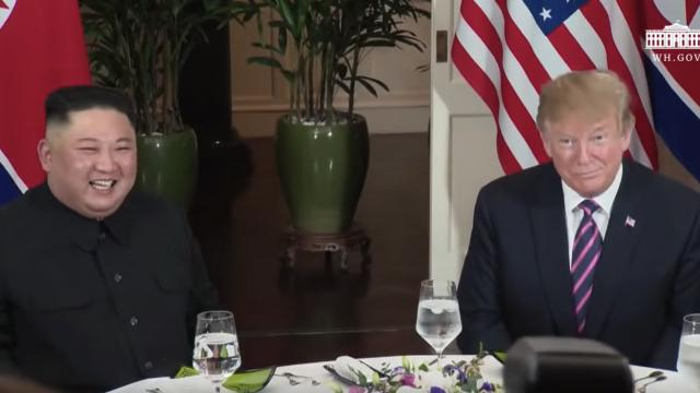 President Trump and North Korean Leader Un sit down for Dinner at Hanoi Hotel