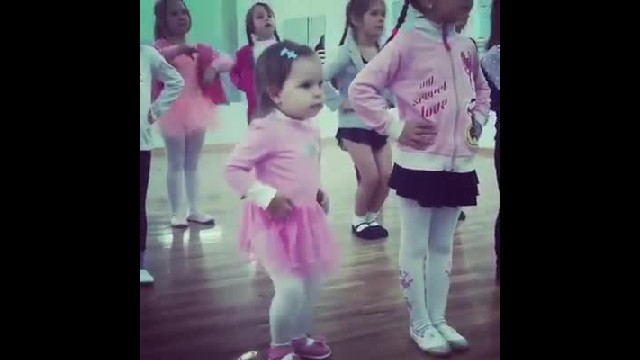 Ballerinas Line Up To Dance, But Keep Your Eyes On The Little One In The Front