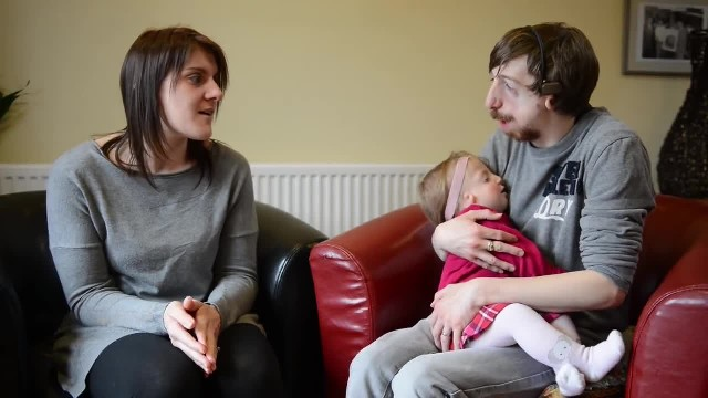 New dad with severe facial disfigurement defends decision to have daughter naturally