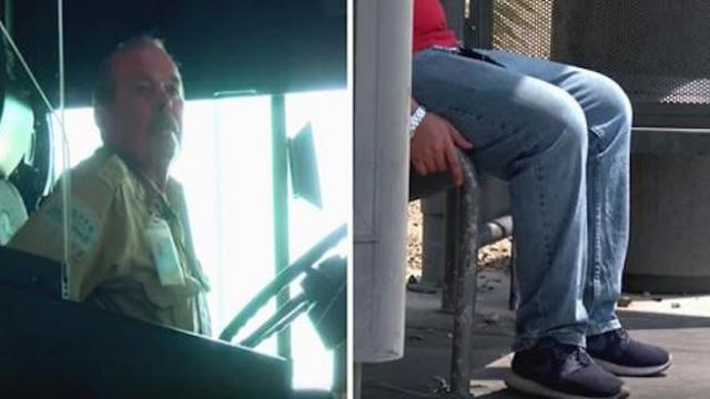 Driver eyes 92-yr-old at bus stop that doesn't board jumping to his feet minute he looks at his face
