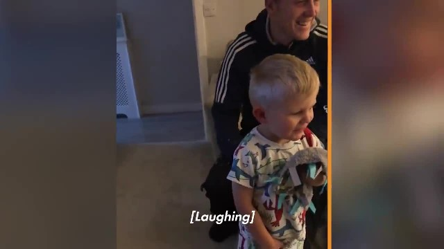 Toddler breaks down sobbing seeing presents as mom's captured footage melts internet's heart