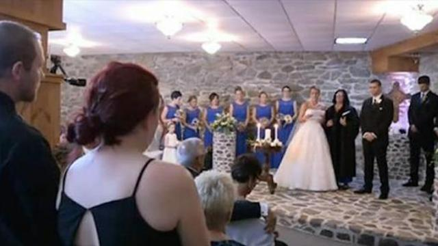 Bride sees husband's ex at her wedding, halts ceremony, and asks