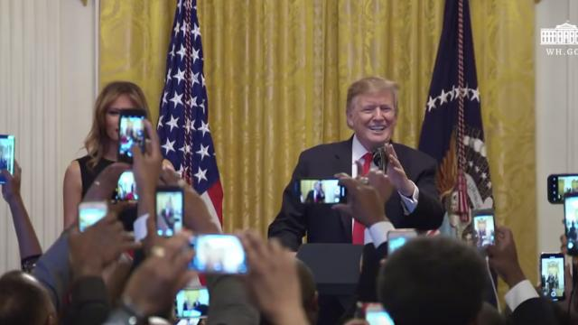 President Trump Participates in a Reception for National African American History Month