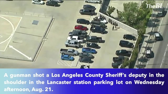 Gunman shoots L.A. County deputy in parking lot of Lancaster station