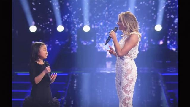Celebrity asks little girl to sing 'You raise me up' Within seconds,
