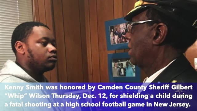 Teen awarded for pulling 10-year-old girl to safety during shooting at high school football game