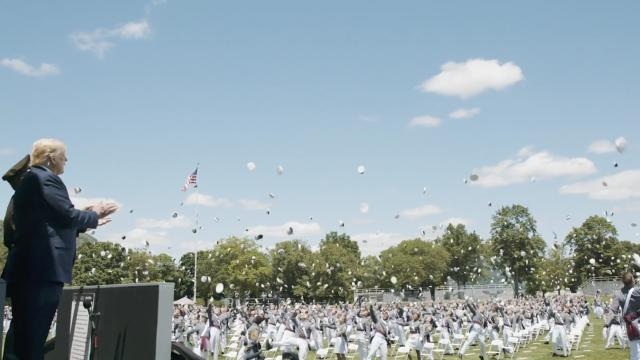President Donald J. Trump at the 2020 West Point graduation ceremony