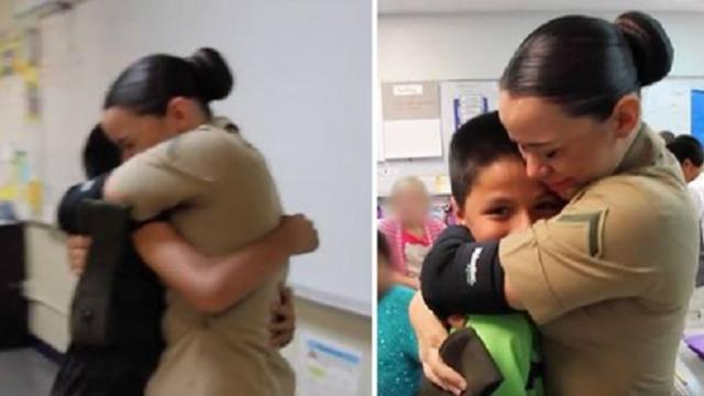 Marine surprises her brothers by revealing she got custody of them