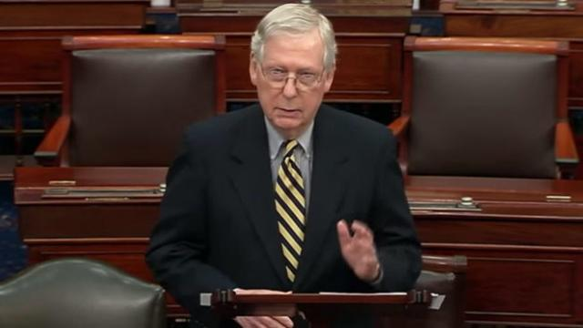Sen. McConnell: 'never going to allow the Speaker of the House to dictate Senate proceedings to sena