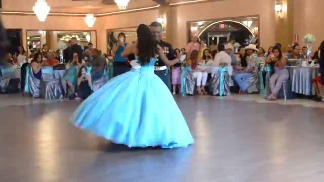 Marine dances with daughter at her quinceañera, stun guests when they bust out the moves
