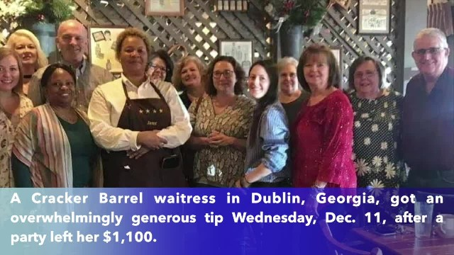 Georgia Cracker Barrel server receives $1,100 tip