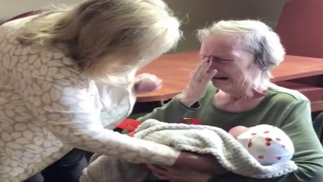 Women deliver baby dolls to people with Alzheimer's and dementia. Their reactions to the comforting