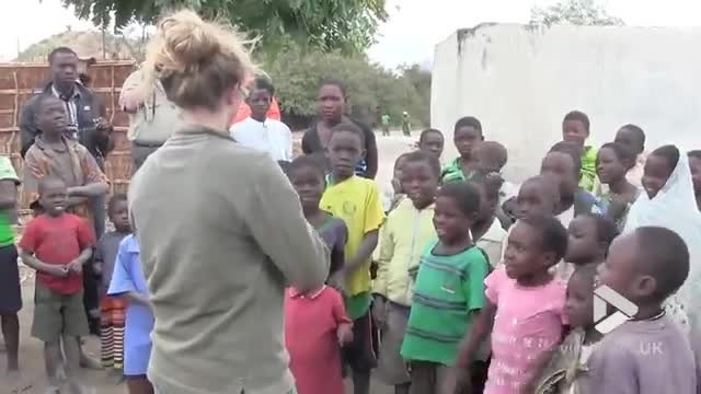 African kids have the sweetest reaction when they hear fiddle music for the first time